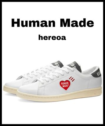 HUMAN MADE Unisex Street Style Plain Leather Logo Sneakers
