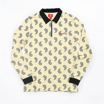 Pullovers Paisley Street Style Long Sleeves Logo Polos