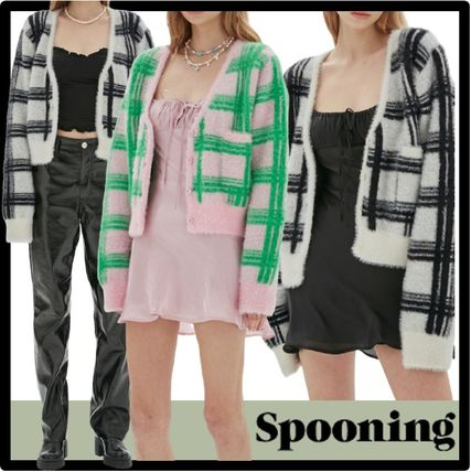 Spooning Casual Style Street Style Cardigans
