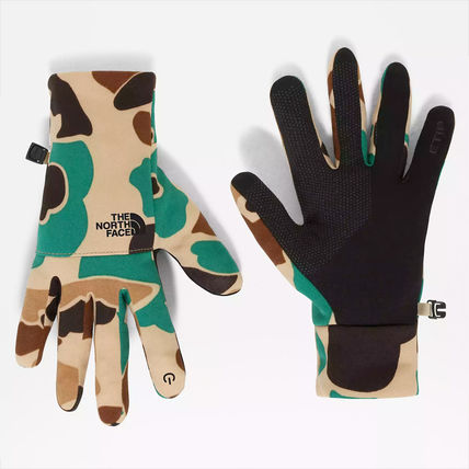 THE NORTH FACE Blended Fabrics Street Style Logo Touchscreen Gloves