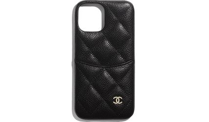 CHANEL Unisex Street Style Plain Bridal Logo Tech Accessories