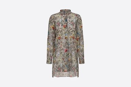 Christian Dior Flower Patterns Casual Style Street Style Long Sleeves