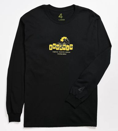 Crew Neck Pullovers Street Style Long Sleeves
