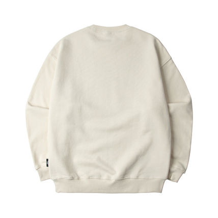 Unisex Sweat Street Style Long Sleeves Cotton Logo