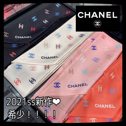 CHANEL ICON Casual Style Silk Party Style Office Style Elegant Style