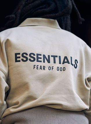 FEAR OF GOD ESSENTIALS Unisex Street Style Collaboration Logo Polos
