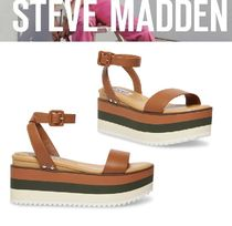 Steve Madden Rubber Sole Casual Style Studded Street Style Leather