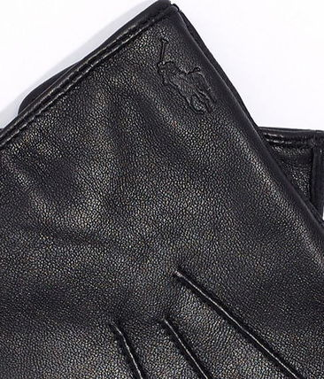 POLO RALPH LAUREN Leather Logo Leather & Faux Leather Gloves