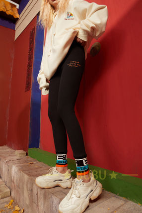 ELF SACK Casual Style Blended Fabrics Long Elegant Style Skinny Pants
