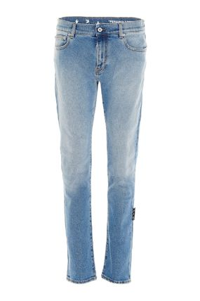 Off-White More Jeans Unisex Street Style Plain Cotton Logo Jeans 2