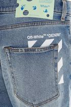 Off-White More Jeans Unisex Street Style Plain Cotton Logo Jeans 5