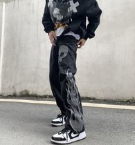 More Jeans Printed Pants Skull Denim Street Style Oversized Jeans 6