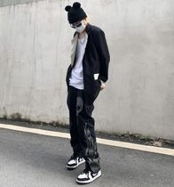 More Jeans Printed Pants Skull Denim Street Style Oversized Jeans 10