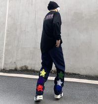 More Jeans Printed Pants Star Denim Street Style Oversized Logo Jeans 8