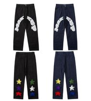 More Jeans Printed Pants Star Denim Street Style Oversized Logo Jeans 15