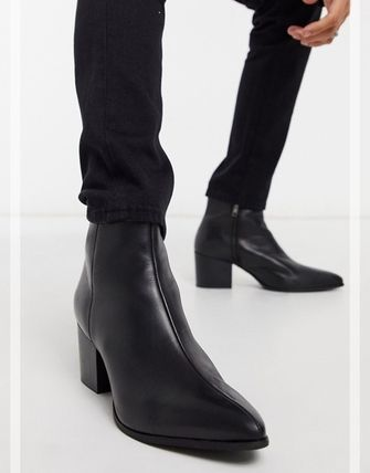 ASOS Street Style Plain Leather Boots