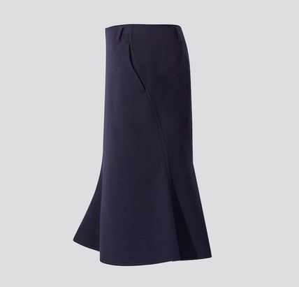 UNIQLO Casual Style Collaboration Plain Office Style Skirts