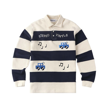 Street Style Long Sleeves Polos