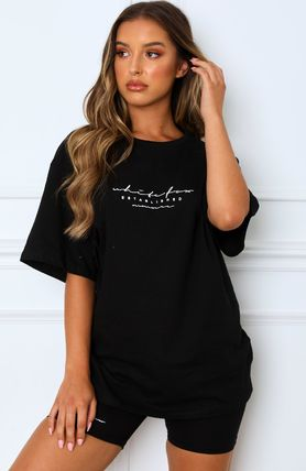 Short Casual Style Sweat Blended Fabrics Flared Street Style