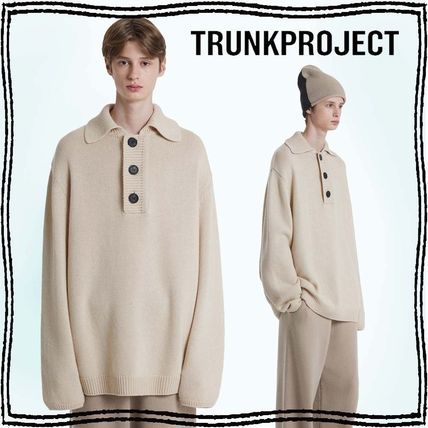 TRUNK PROJECT Casual Style Unisex Wool Cashmere Blended Fabrics