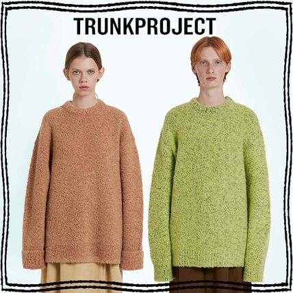 TRUNK PROJECT Crew Neck Casual Style Unisex Wool Nylon Blended Fabrics