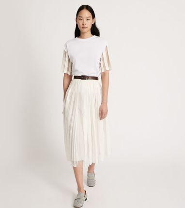 Formal Style  Flared Skirts Casual Style Blended Fabrics