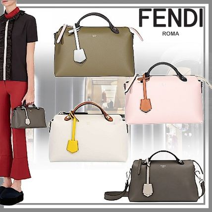 FENDI BY THE WAY Casual Style Street Style 2WAY Plain Leather Elegant Style