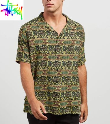 STUSSY Shirts Button-down Short Sleeves Skater Style Shirts