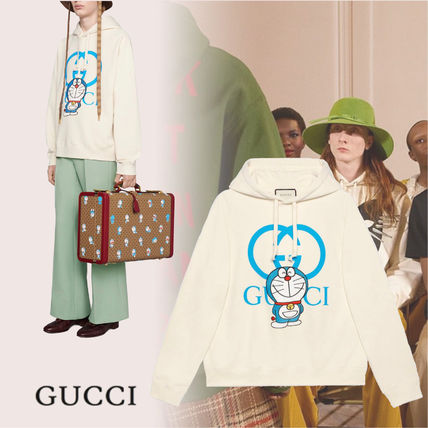 GUCCI Pullovers Blended Fabrics Street Style Long Sleeves Cotton