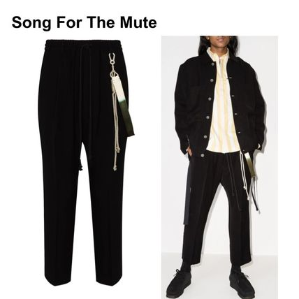 SONG FOR THE MUTE Unisex Sweat Plain Cropped Pants