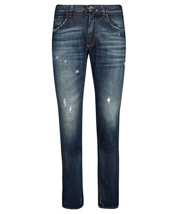 Dolce & Gabbana More Jeans Unisex Street Style Plain Logo Jeans