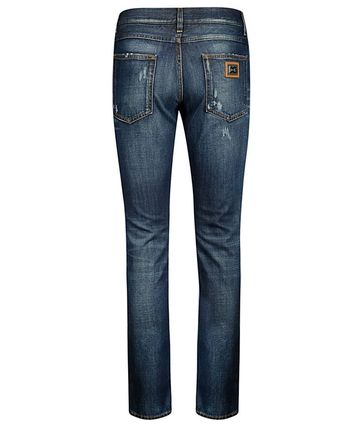 Dolce & Gabbana More Jeans Unisex Street Style Plain Logo Jeans 2