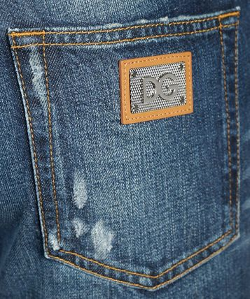 Dolce & Gabbana More Jeans Unisex Street Style Plain Logo Jeans 3