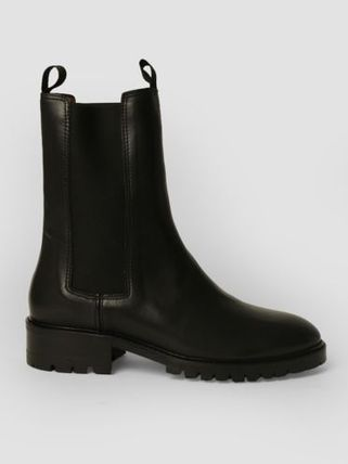 Casual Style Plain Leather Chelsea Boots Office Style