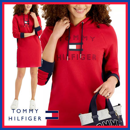 Tommy Hilfiger Short Casual Style Maxi Street Style Long Sleeves Plain