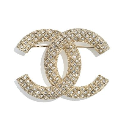 CHANEL Costume Jewelry Casual Style Leather Party Style Brass