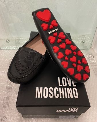 Heart Moccasin Round Toe Rubber Sole Casual Style