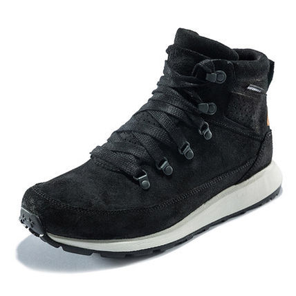 Suede Street Style Plain Leather Sneakers