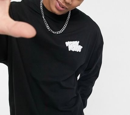 ASOS Crew Neck Pullovers Street Style Collaboration Long Sleeves