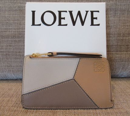 LOEWE PUZZLE Calfskin Plain Leather Long Wallet  Small Wallet Accessories