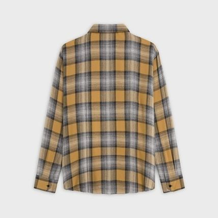 CELINE Shirts Button-down Other Plaid Patterns Long Sleeves Luxury Shirts 3