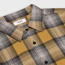CELINE Shirts Button-down Other Plaid Patterns Long Sleeves Luxury Shirts 4