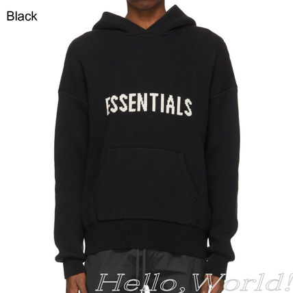 FEAR OF GOD ESSENTIALS Pullovers Unisex Blended Fabrics Street Style Long Sleeves
