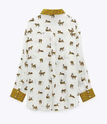 ZARA Casual Style Long Sleeves Other Animal Patterns