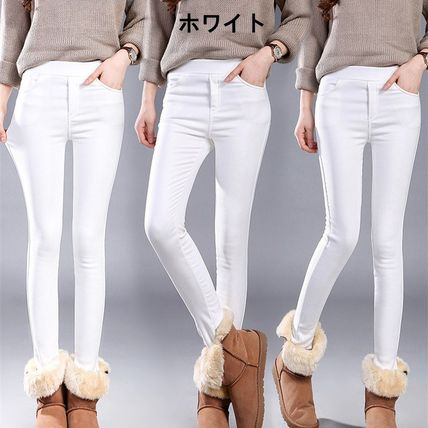Casual Style Plain Long Office Style Skinny Pants