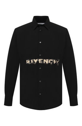 GIVENCHY Shirts Button-down Long Sleeves Cotton Logo Luxury Shirts 2