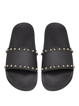 VALENTINO Studded Street Style Plain Shower Shoes Shower Sandals