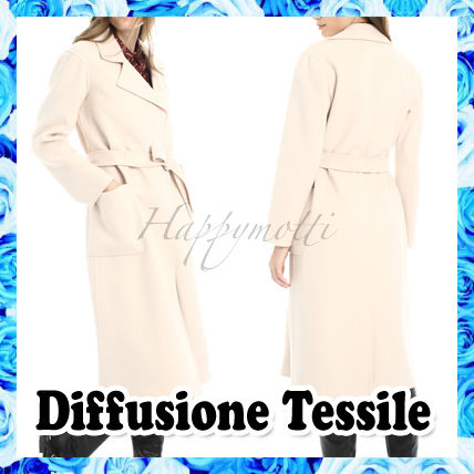 Diffusione Tessile Casual Style Wool Plain Long Party Style Office Style