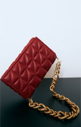 ZARA Casual Style Chain Elegant Style Shoulder Bags