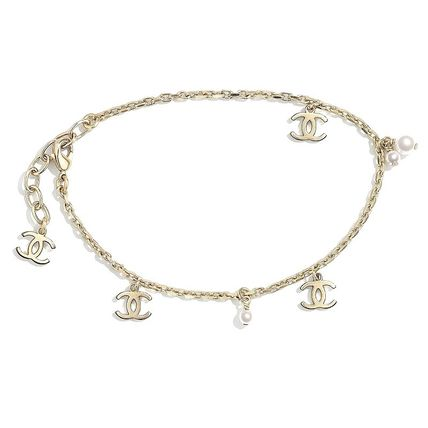 CHANEL Costume Jewelry Party Style Elegant Style Anklets